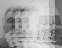 Reflection (Mara Maroas) Tags: mirrow dad reflectiob blackwhite