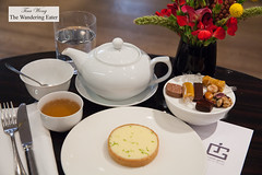 Basil lemon tart and You Xiang (green tea) and some chocolates and signature passion fruit caramels (thewanderingeater) Tags: jacquesgenin paris france patisserie confectioner 3rdarrondissment teahouse