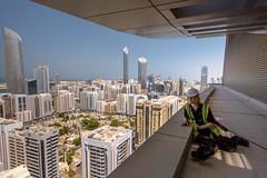 high up in abu dhabi (Olly Newport) Tags: dubai abu dhabi selfportrait selfie skyline buildings