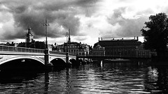The city between bridges! (mpersson60) Tags: sverige sweden stockholm svartvitt bw vatten water bro bridge