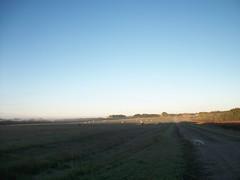 Early Morning... (geevee41) Tags: morning fog shadows bales lastdaysifsummer prairies