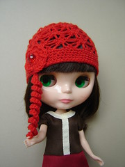 Margot with red hat