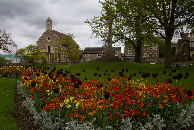 Forbury Gardens and St James Church, Reading