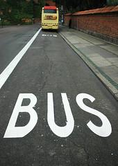 Busspur in Odense(DK)
