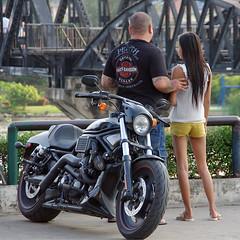 Motor Cycle and Bridge (Jom Manilat) Tags: bridge river jack thailand cycle daniels motor kanchanaburi kwai