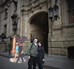 John and Yoko photobomb. (Dave S Campbell) Tags: new york old statue john square liberty union present then yoko now lennon past dakota flatiron ono