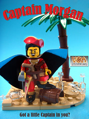 Got a little Captain in you? (V&A Steamworks) Tags: gun lego cove forbidden va pirate captain cape rum minifig morgan custom steamworks moc