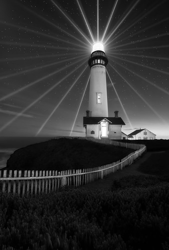 Last light - Pigeon Point Lighthouse, Half Moon Bay, CA