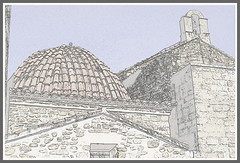 Interesting Roof (Shirl581) Tags: roof sketch picasa castellon pantiles cerveradelmaestre