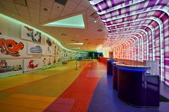 Disney's Art of Animation Resort - Ride the Color Wave (Express Monorail) Tags: travel vacation usa ariel colors lines america hotel orlando nikon colorful nemo florida availablelight curves vivid disney lobby sebastion theme orangecounty wdw waltdisneyworld kissimmee themepark thelionking uwa thelittlemermaid lakebuenavista ultrawideangle baylake reedycreek disneypictures disneypixarscars disneyparks expressmonorail disneyphotos d3s nikkor1424mmf28 joepenniston disneyphotography disneyimages disneysartofanimationresort disneypixarsfindingnemo