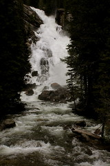 Color Waterfalls (andrewpug) Tags: lake color fall water beautiful waterfall nice falls wyoming jacksonhole jennylake