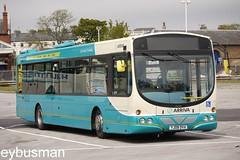 Arriva Yorkshire 1100, YJ08DVA. (EYBusman) Tags: road park urban west bus eclipse volvo coach yorkshire east riding british wright cowie bridlington woollen arriva b7rle hilderthorpe yj08dva