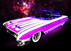 Nebula (AceOBase) Tags: blue color classic colors beautiful car stars photography cool whitewalls classiccar scenery colorful peace ride purple oneofakind space low smooth machine vivid funk