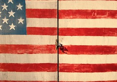 JKN©-BW-0615 (John Nakata) Tags: american barn bw carmelvalley flag patriotic published