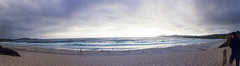 Carmel Beach (andrewpabon) Tags: california ca sunset panorama beach evening monterey cloudy panoramic carmel carmelbeach andrewpabon