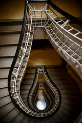 Staircase (DoctorNo_34) Tags: stairs architechture nikon prague praha staircase 2012 cubist d800 bulp dejarnac