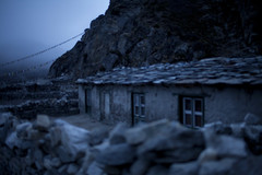 Stone hut, Tagnag (louisgillphoto) Tags: travel nepal camp mountain snow colour nature trekking lens landscape photography prime glacier climbing valley mountaineering everest base gokyo