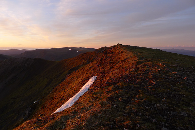 Summit of Beinn Eibhinn at dawn