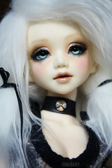(G.Baby Dolls) Tags: blue light eyes doll body diamond wig corset designs bjd hybrid msd monstro gbaby unoa 14mm faceup lusis dollshe dollndoll raouken