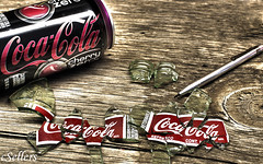 Coke Mosaic (revoneb) Tags: usa glass coke iowa cocacola cokezero cokebottles siouxcity cokecans