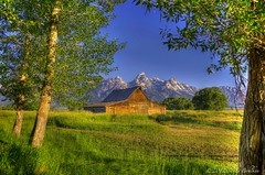 T A Moulton Barn (sandyb49) Tags: mountains barn morninglight tetons hdr grandtetonnationalpark photomatix mormonrow antelopeflats 3exposurehdr borderfx nikond7000 topazadjust5