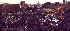 Tahrir Square - Panorama (Mohamed Azazy) Tags: museum square president protest egypt victory cairo celebrations egyptian elections protesting elect shafiq  tahrir  egyptians    morsi