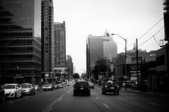 yonge st. (Es.mond) Tags: road street city urban blackandwhite bw toronto ontario cars monochrome buildings drive driving metropolis metropolitan urbanity yongest nikond90 afs35mm18nikkor