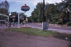 American Station Tyrone, PA - October 1968 (cooldude166861) Tags: pennsylvania nfl gas 99 american oil interstate 1968 petrol tyrone drivesafely