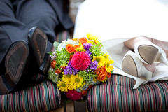 ABG Wedding (Just a few relaxing seconds...) (Aaron W | http://law-photography.com) Tags: flowers wedding portrait detail canon groom still shoes mark relaxing ii 5d 135 boquet 135mm 20l birde cherryvalleylodge lawphotography