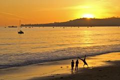 He tumbles (Damian Gadal) Tags: california sunset silhouette santabarbara geotagged nikon february montecito 2012 butterflybeach d80 nikond80