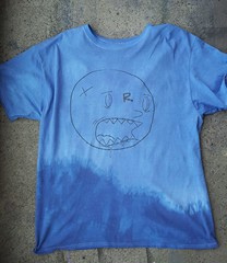 T-shirts (Choice Royce) Tags: blue forsale roycebannon silkscreen handdyed ombr
