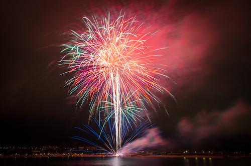 Fireworks at Newport Dunes