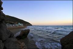 Summer #Rocks & Beach (Interstella 5555) Tags: sea summer beach spain mediterranean playa verano catalunya puestadesol sitges sunste