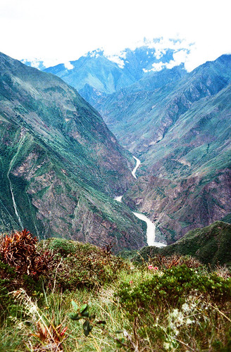 view from the Apurimac on the road to Choquequirao, Day 3