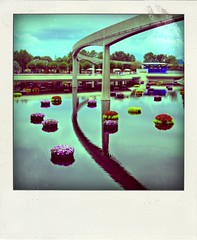 Disney Poladroids (Etrusia UK) Tags: travel usa water america reflections geotagged us epcot holidays florida disney disneyworld wdw waltdisneyworld overseas poladroid disneythemeparks geo:lat=2837225080630591 geo:lon=8154938703970339