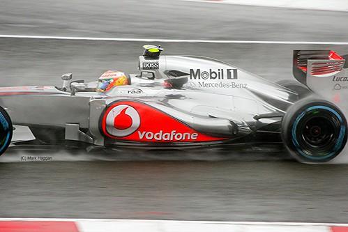 Lewis Hamilton's McLaren at Silverstone