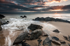 Break through (Luke KC) Tags: ocean vacation seascape rock sunrise landscape sand rocks waves australia queensland cairns tropics fnq farnorthqueensland ellisbeach