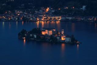 La magia serale del Lago D'Orta.