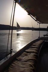 Felucca on the Nile - 03 (MikePScott) Tags: camera plants monument river boat transport egypt nile aswan waterway topography builtenvironment panasonicdmcfz30 featureslandmarks qismaswan