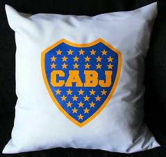 Almohadn Boca (Lady Krizia) Tags: pillow juniors futbol boca vinilo escudo wilwarin estampado almohadon termoestampado