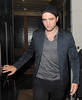 Robert Pattinson leaves a restaurant in Mayfair having spent four hours inside the venue London, England