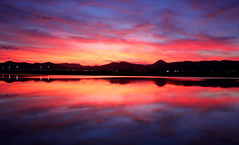 Ibizan afterglow (snowyturner) Tags: sunset sky mountains clouds reflections spain mediterranean ibiza afterglow balearic saltpans playadenbossa