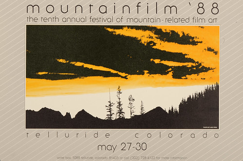 1988 Mountainfilm in Telluride Festival Poster