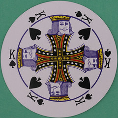 Round Playing Card King of Spades (Leo Reynolds) Tags: playing canon court eos iso100 king deck card squaredcircle 60mm f80 playingcard spades carddeck 002sec 40d hpexif courtcard xleol30x sqset082