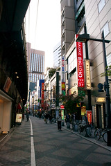 Tokyo's streets (lorenzoviolone) Tags: street streets building japan buildings japanese tokyo reflex nikon raw sony jp jpg dslr digitalslr sonybuilding hakihabara nikonraw nikondslr digitalreflex nikonprofessional nikonreflex fileraw d3100 nikond3100 professionaldslr dslrraw shotfolder