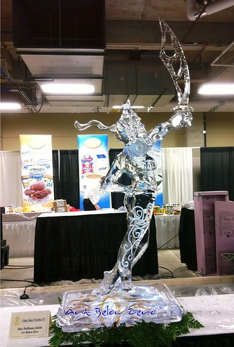 Justice Ice Sculpture, First Place at Potawatomi Casino Ice Sculpting Competition 2011