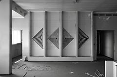 AK_Four (| Ak |) Tags: abstract black art abandoned geometric triangles triangle factory geometry ak optical walls opart prospective abandonedspace postgraffiti opticalart akdwg