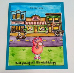 retail therapy card (Mary artist) Tags: simon stamp says