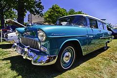 1955 Chevrolet 210 wagon (hz536n/George Thomas) Tags: 2016 cs5 canon canon5d chevrolet chevy ef1740mmf4lusm flint hdr michigan sloanmuseum sloanmuseumautofair summer carshow copyright nik stationwagon wagon