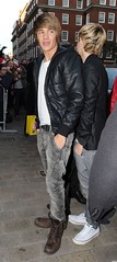 (One Direction Archive) Tags: liampayme onedirection tshirt jacket leatherjacket jeans greyjeans boots brownboots xfactordconference arrivals london uk